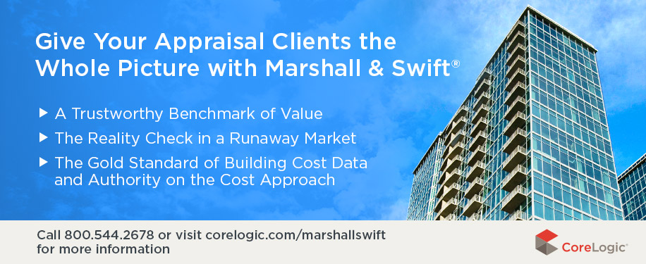 Give Your Appraisal Clients the Whole Picture with Marshall & Swift